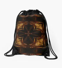 Night Streets and Fireflys Drawstring Bag