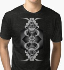 Reflection in B&W Tri-blend T-Shirt