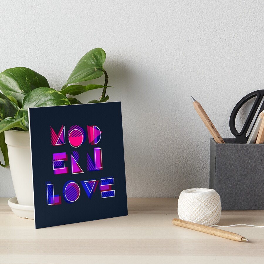 Modern Love (bonus) Art Board Print