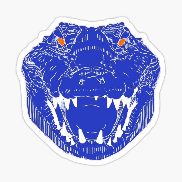 BLUE gator face Sticker