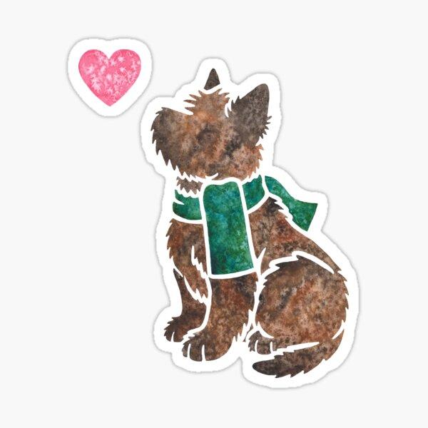 Watercolour Cairn Terrier dog Sticker