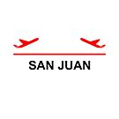 San Juan Puerto Rico Airport Plane Light-Color by TinyStarAmerica