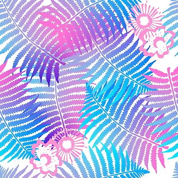 Modern Tropical Leaves Floral Print by Artification