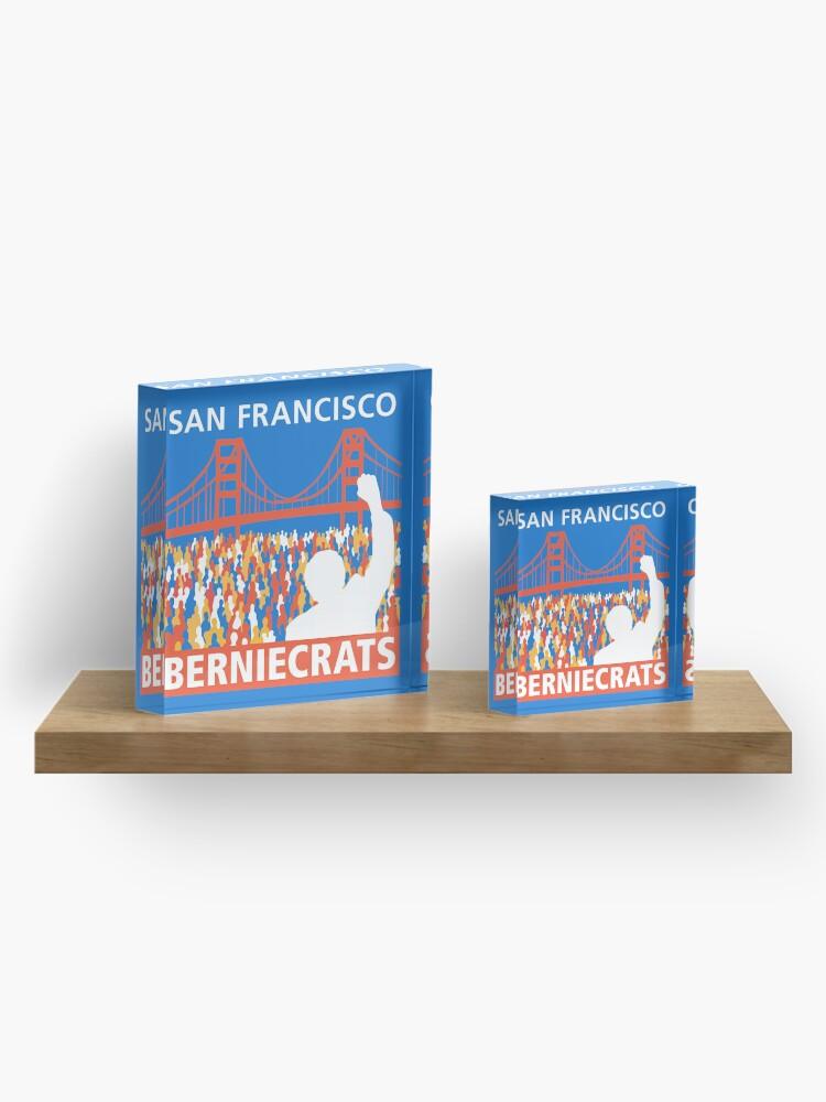 Alternate view of SF Berniecrats Acrylic Block