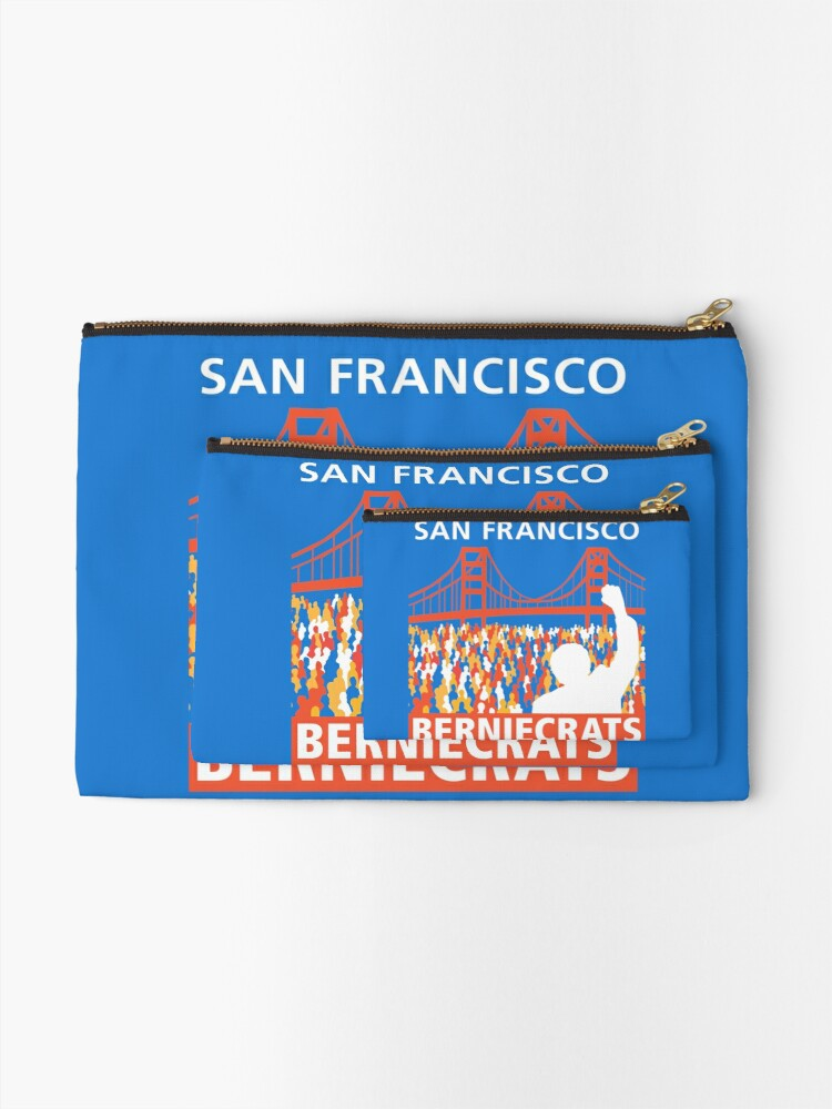 Alternate view of SF Berniecrats Zipper Pouch