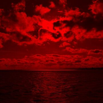 Blood red sea by findingNull