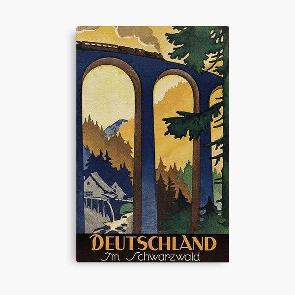 Black Forest vintage travel advertisement Canvas Print