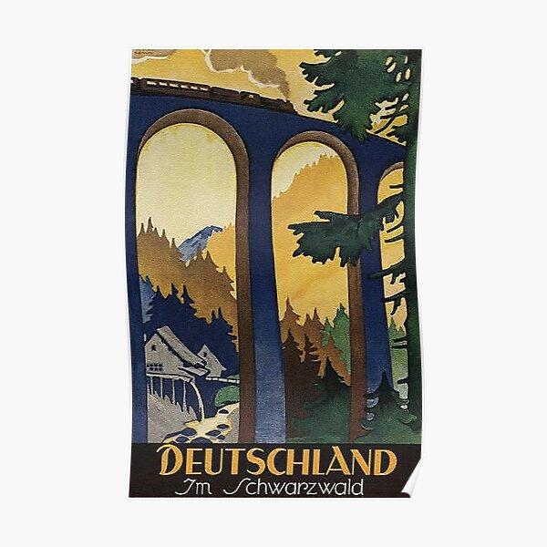Black Forest vintage travel advertisement Poster