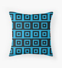 Blue/Black Pattern Throw Pillow