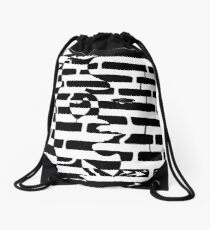 Saxophone Player or Woman Maze Drawstring Bag