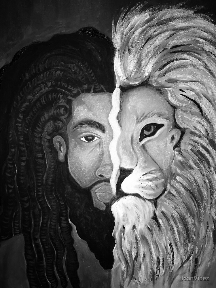 """KING"" (Black and White) by IconVibez"