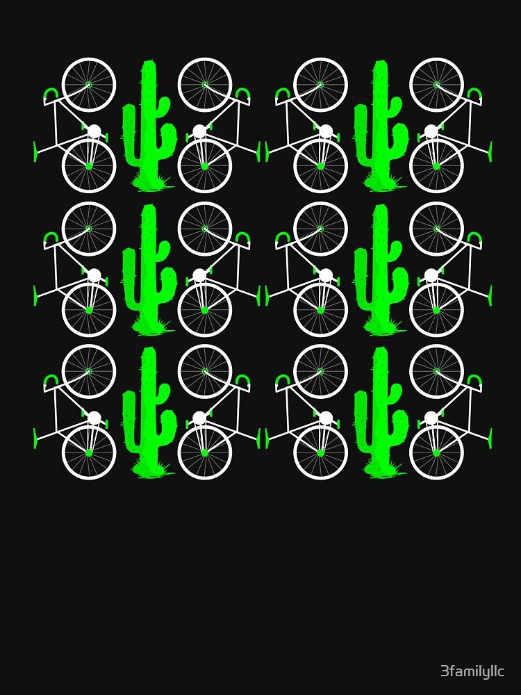 Biking And Cactus T-shirt by 3familyllc