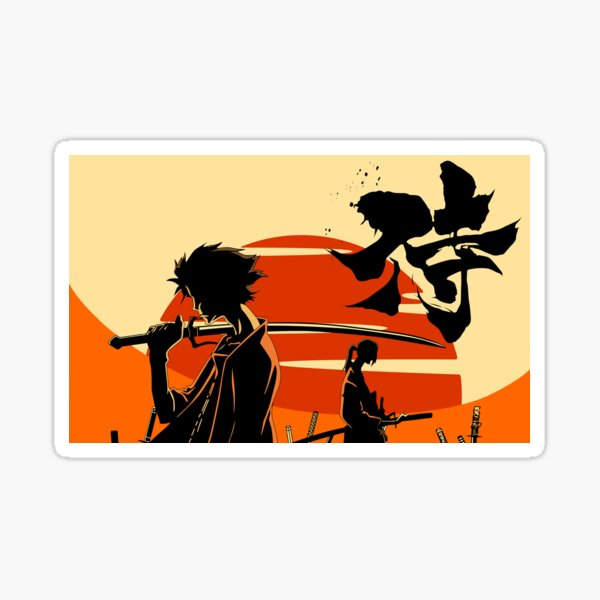 Sunset Samurai Sticker