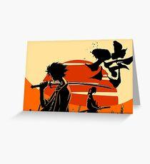 Sunset Samurai Greeting Card