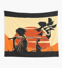 Sunset Samurai Wall Tapestry