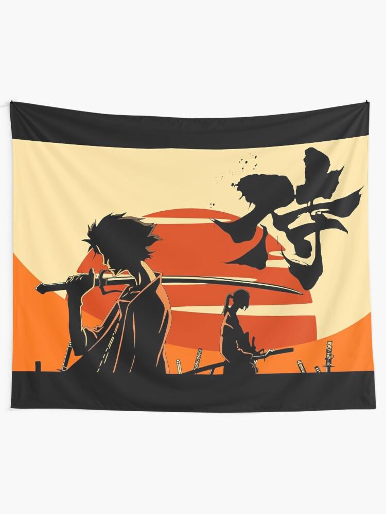 Alternate view of Sunset Samurai Tapestry