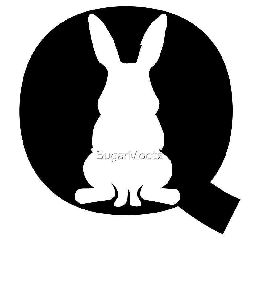We Are Q White Rabbit QAnon Political by SugarMootz