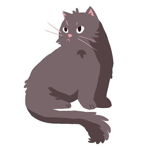 fluffy grey cat sticker by Amanda Pszczolkowski