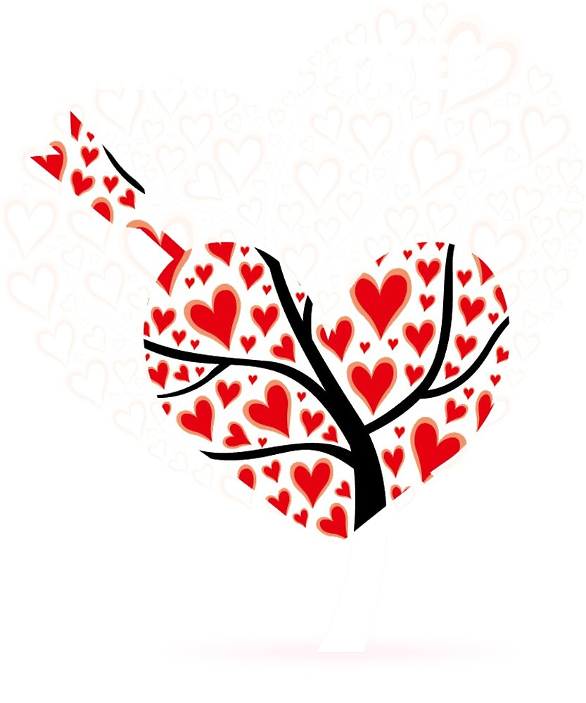 HEART TREE T-SHIRT by Pro-T-shirt