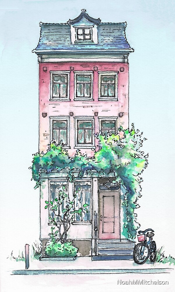 Amsterdam House Watercolor #1 by NoahMMitchelson