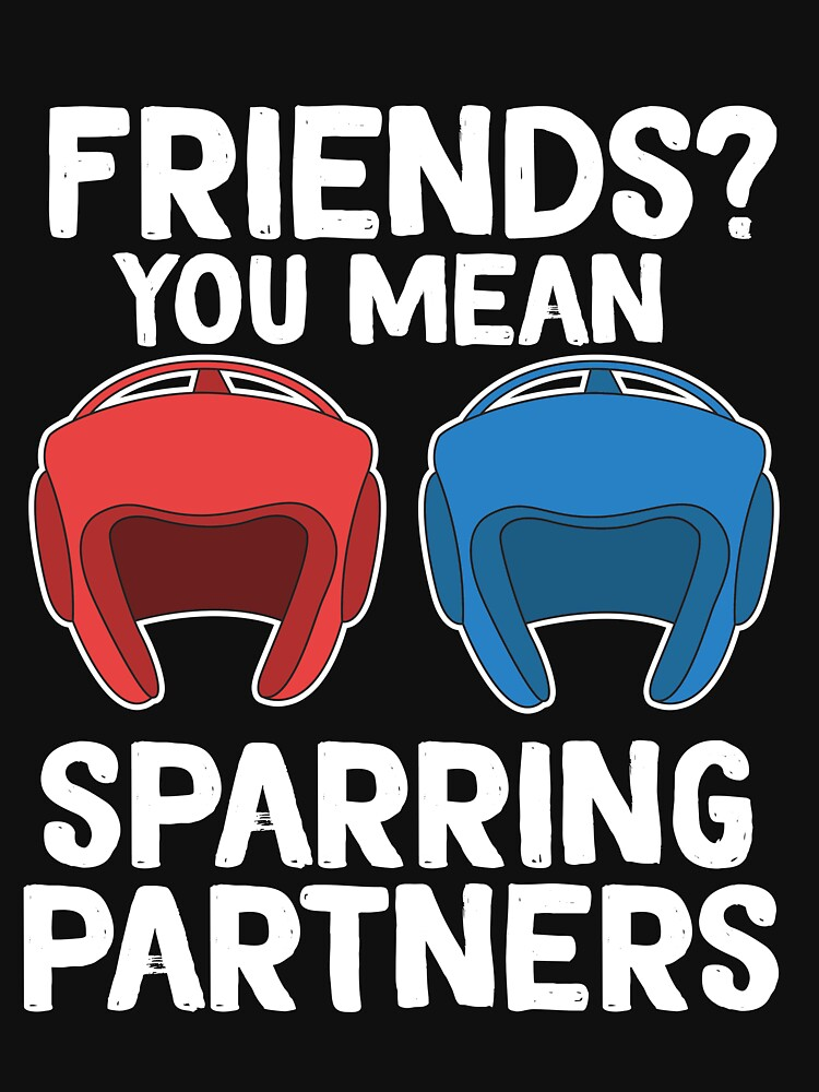 The Fighter's Sparring Tshirt Design Sparring partner by Customdesign200