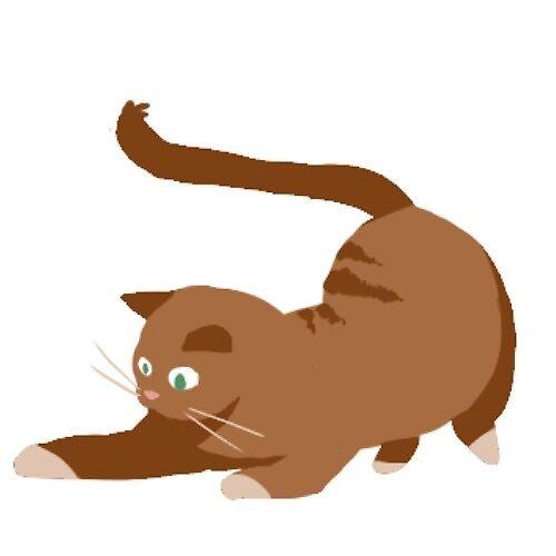 brown playful cat sticker by Amanda Pszczolkowski
