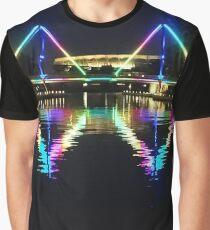 Rainbow Bridge - Claisebrook Cove East Perth Graphic T-Shirt