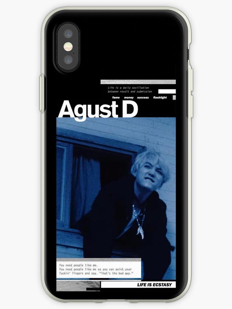 AgustD Mixtape Cover Theme Phone Case by luckadoodledoo