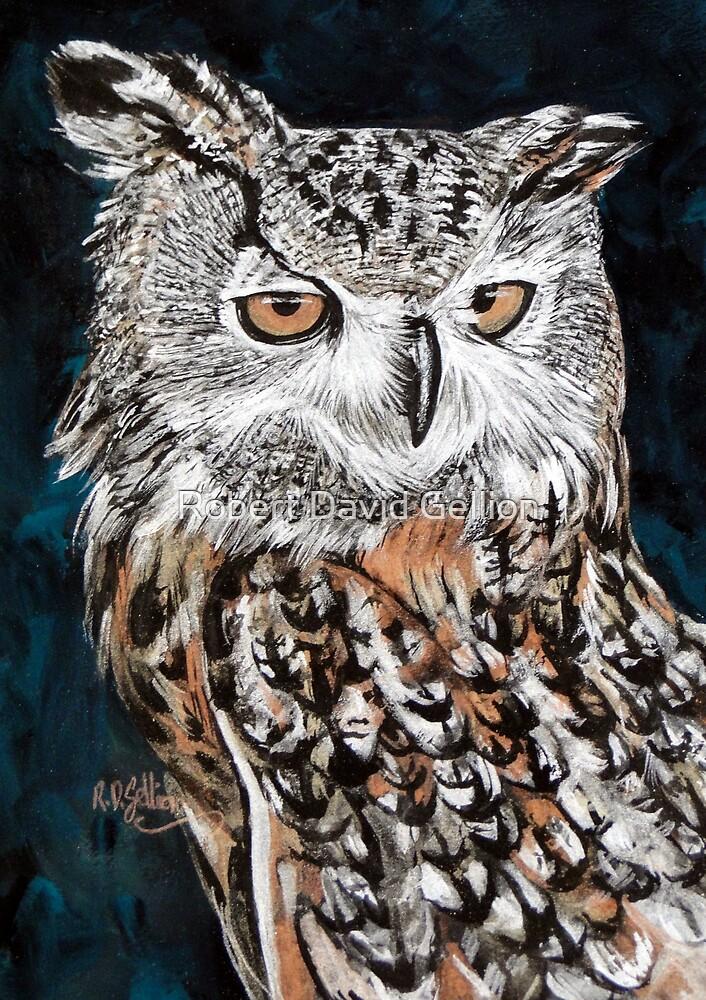Eagle owl. by Robert David Gellion