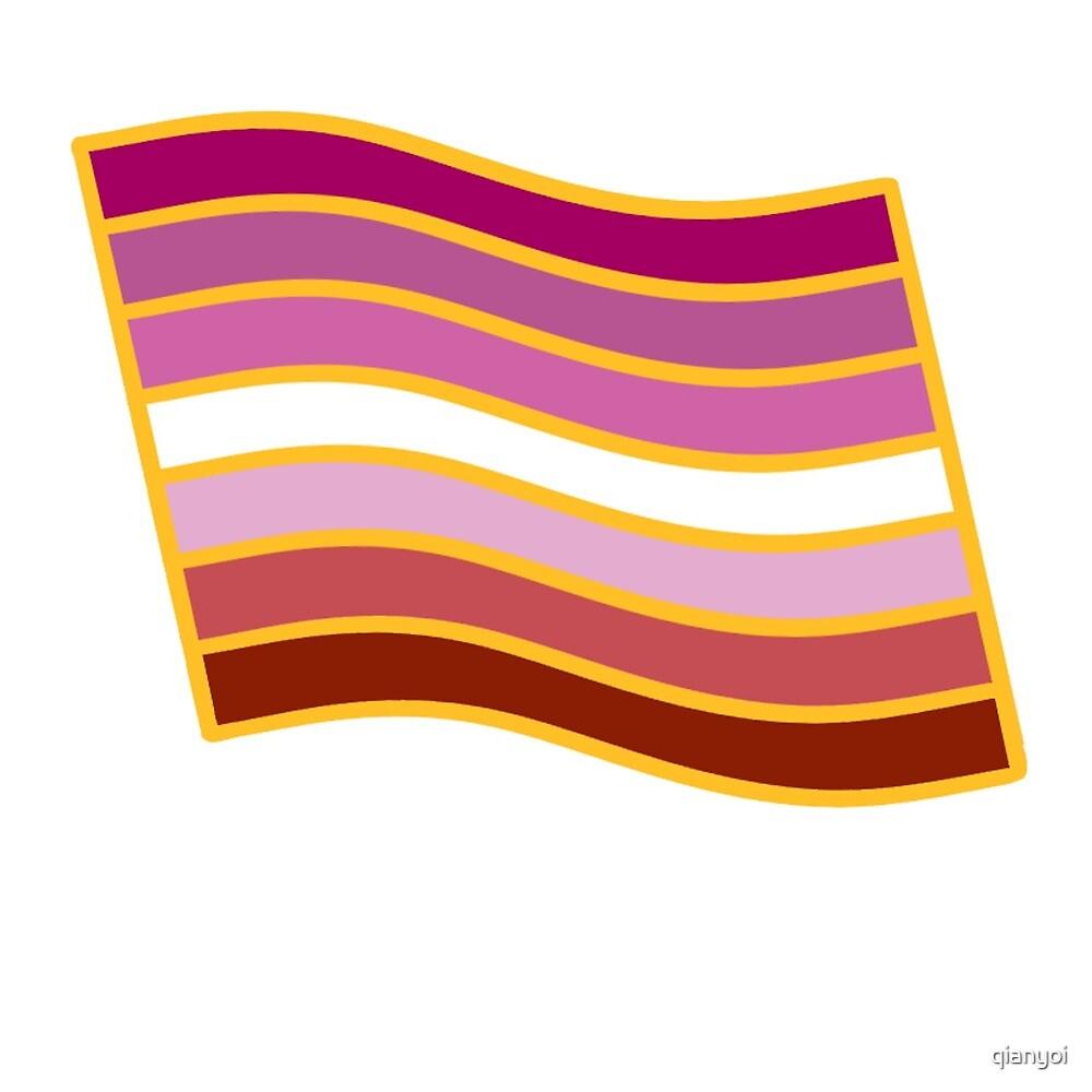 LGBT Lipstick Lesbian Gay Pride Sticker  by qianyoi