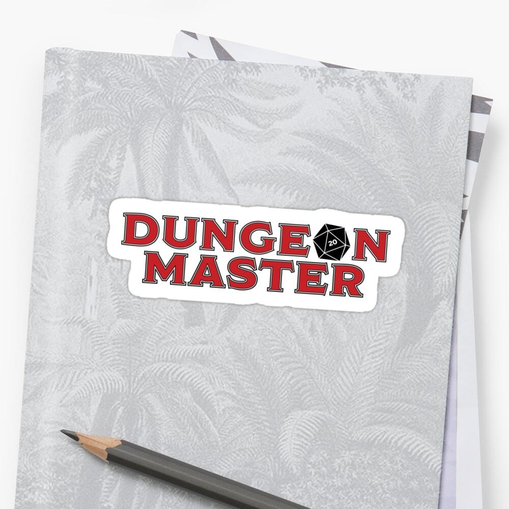 Dungeon Master Sticker - Alternate by JPDesignsStuff