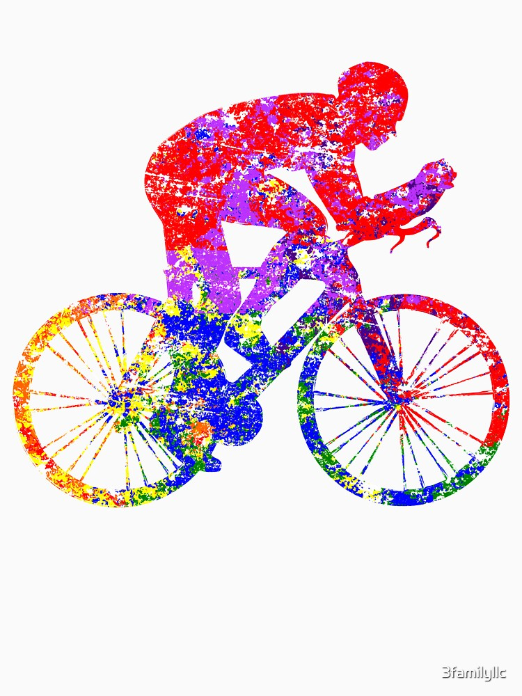 Colorful Biking T-shirt by 3familyllc