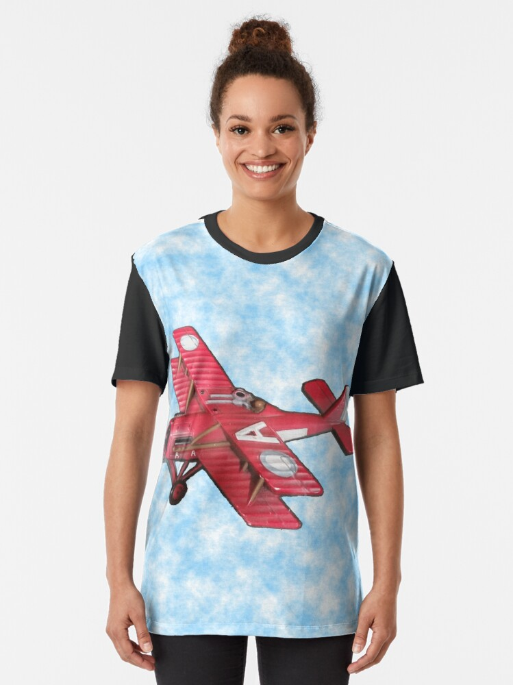 Alternate view of Red Biplane Graphic T-Shirt