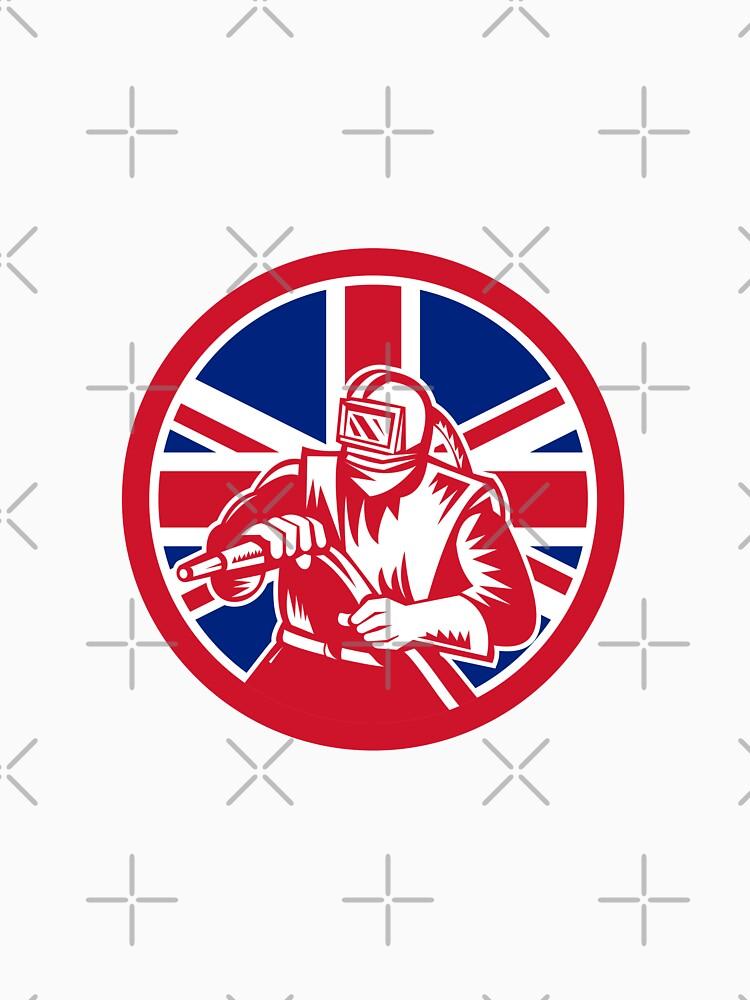 British Sandblaster Union Jack Flag by patrimonio
