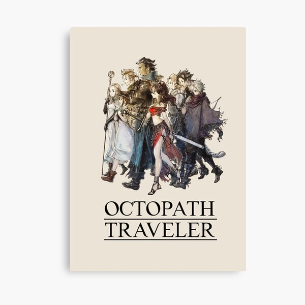 Octopath Traveler® - Travelers Logo (Black) Canvas Print