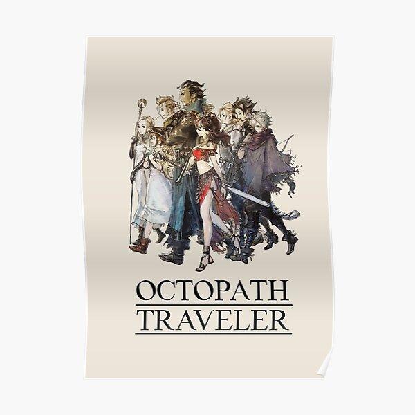 Octopath Traveler® - Travelers Logo (Black) Poster