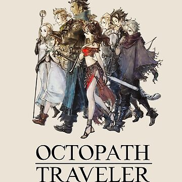 Octopath Traveler® - Travelers & Logo (Black) by SWISH-Design