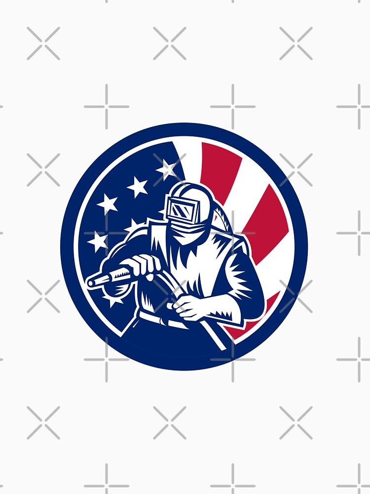 American Sandblaster USA Flag Icon by patrimonio