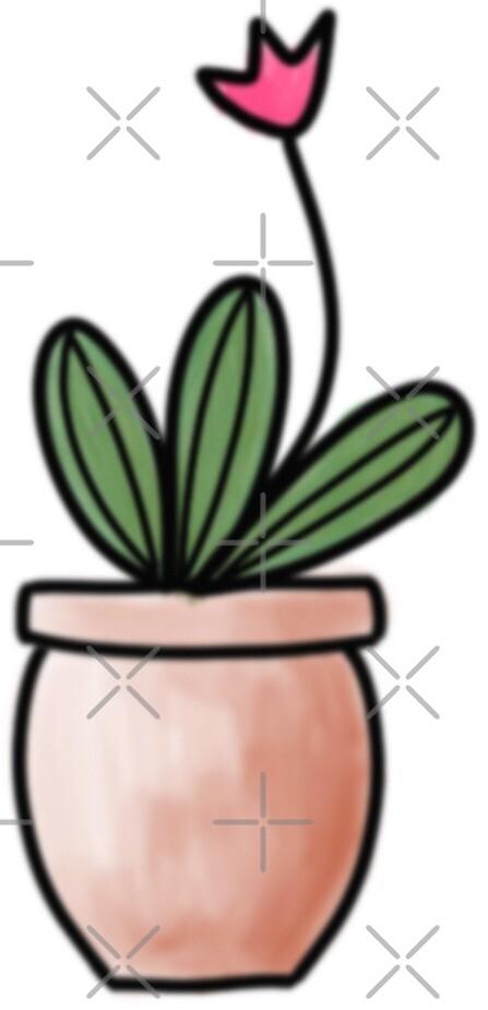 Cactus sticker 2 by erinslettering