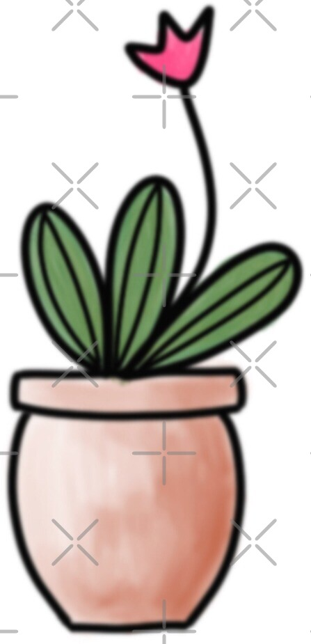 Cactus sticker 2 by erinslettering