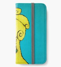 Young Sad Woman Portrait Drawing iPhone Wallet/Case/Skin