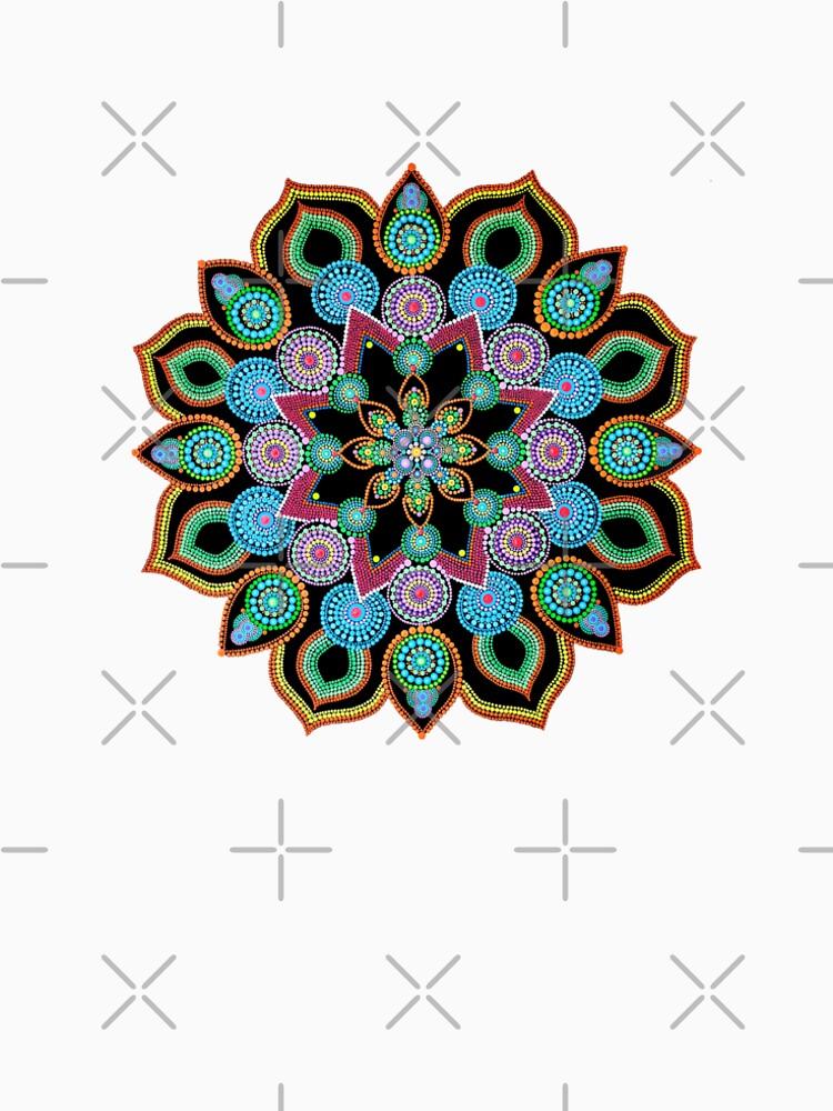 Red Star Dot Mandala - Art&Deco By Natasha  by ArtDecoNatasha