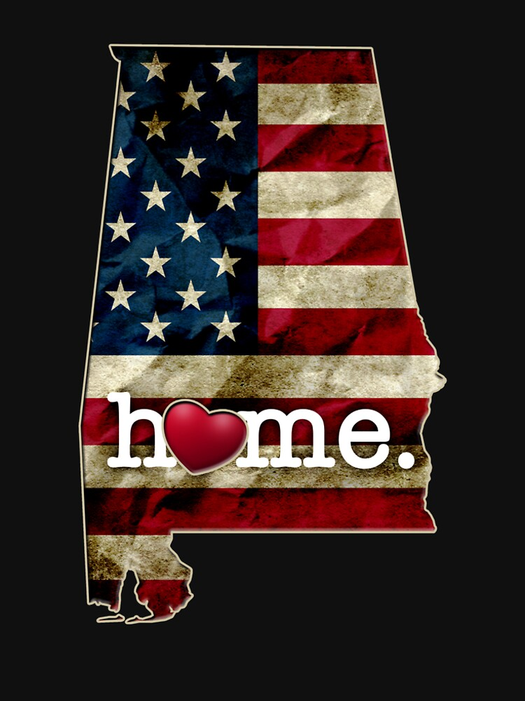 Alabama Fan Gift State Flag America US I heart Alabama Pride by djpraxis