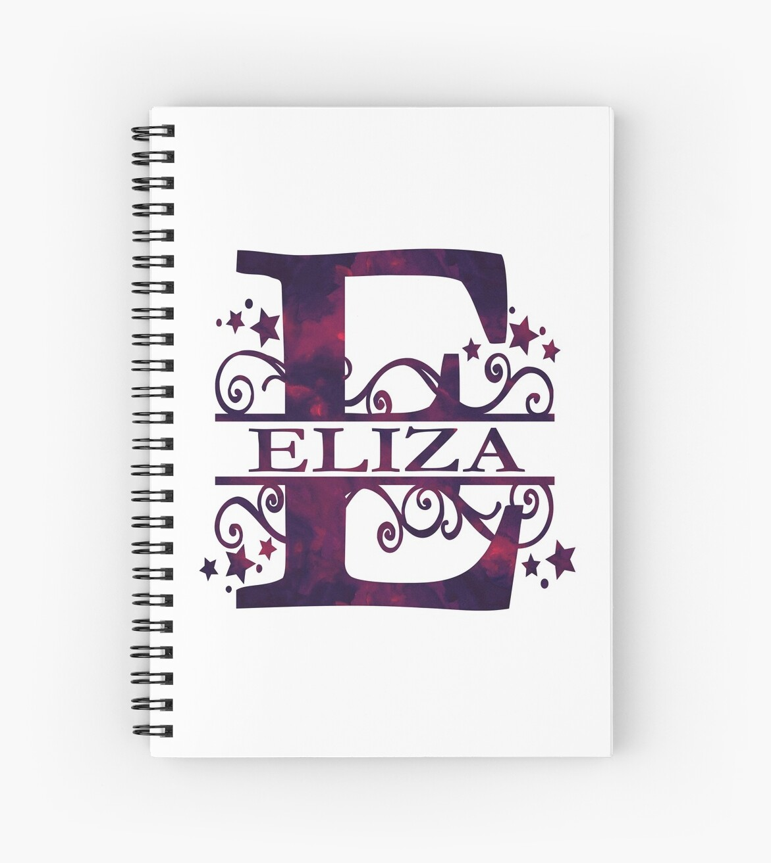 Eliza   Girls Name and Monogram in Dark Purple by PraiseQuotes