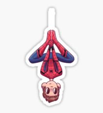 Upside Down Spidey Sticker