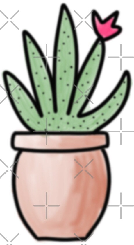 Cactus sticker 3 by erinslettering