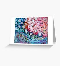 Nuclear Parts Implode Greeting Card