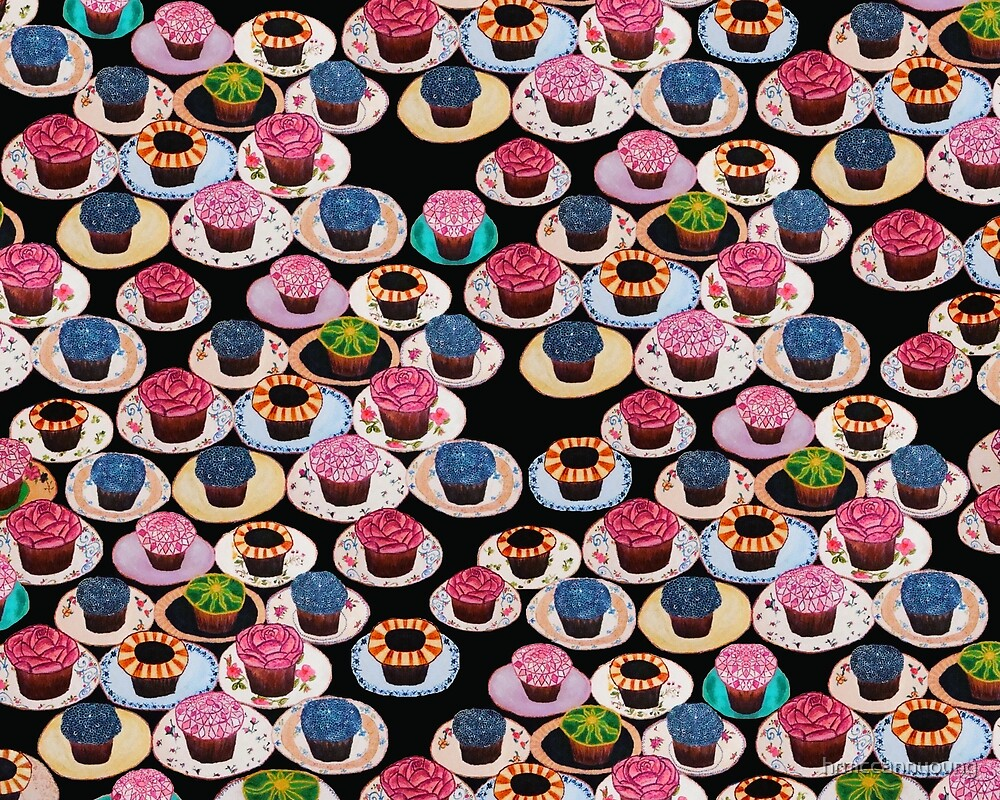 multi color cupcake print by hrmccannyoung