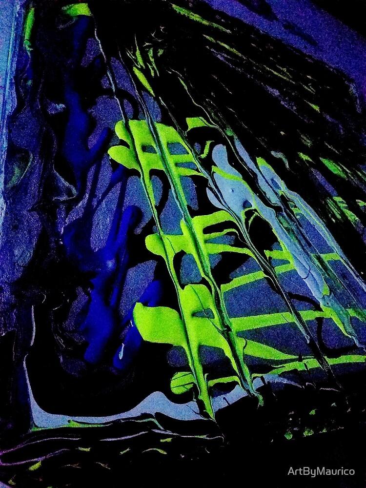 Streaks of night glow by ArtByMaurico