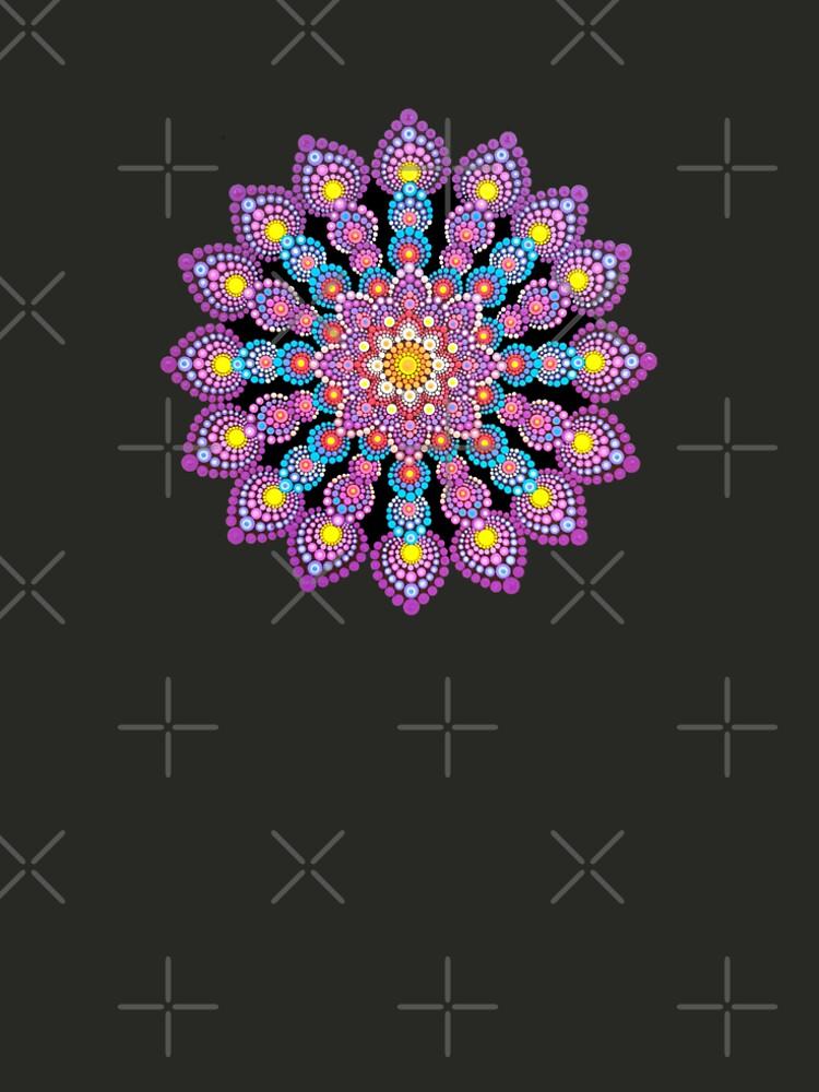 Purple Dot Mandala - Art&Deco By Natasha by ArtDecoNatasha